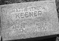 Hattie Lenora Nora <i>Sparks</i> Keener