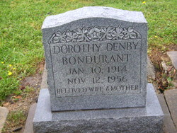 Dorothy May <i>Denby</i> Bondurant