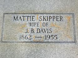 Mattie <i>Skipper</i> Davis