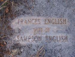 Frances Fanny <i>Hardison</i> English