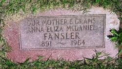 Anna Eliza <i>McDaniel</i> Fansler