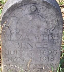 Eliza <i>Webb</i> Benge
