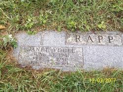 Janet Frances <i>Vogel-</i> Rapp
