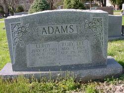Ruby Lee <i>Tomlinson</i> Adams
