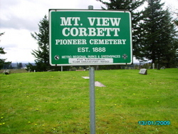 Mountain View Corbett Cemetery