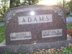 Bertha E. <i>Bailey</i> Adams
