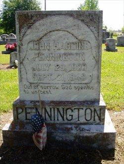 John Harding Johnny Pennington