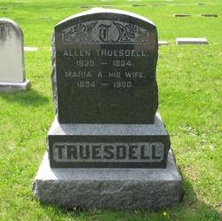 Maria A. <i>Davis</i> Truesdell