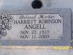 Harriett <i>Robinson</i> Angell