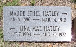 Maude Ethel <i>Cornelius</i> Hatley