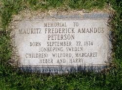 Mauritz Frederick Amandus Fred Peterson