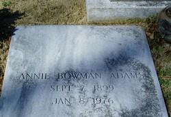 Annie <i>Bowman</i> Adams