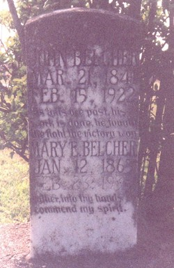 Mary E Mollie <i>Hicks</i> Belcher