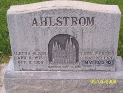 Aletha Wilhelmina Ahlstrom