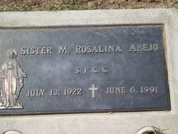 Sr Rosalina Abejo