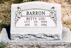 Betty Lou <i>Daniell</i> Barron