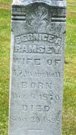 Bernice A. <i>Ramsey</i> Marshall
