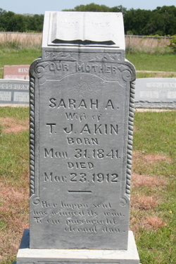 Sarah Ann <i>Knight</i> Akin