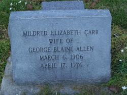 Mildred Elizabeth <i>Carr</i> Allen