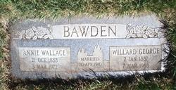 Annie Elizabeth <i>Wallace</i> Bawden
