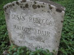 Susan Rebecca <i>Malcom</i> Adair