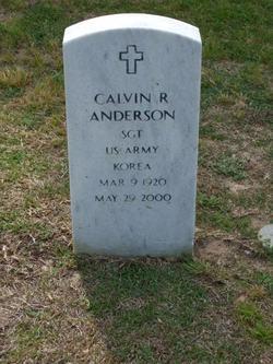 SGT Calvin R Anderson