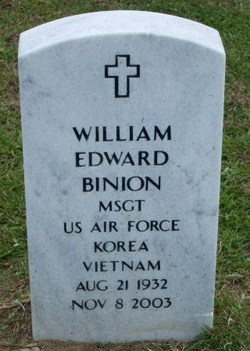 MSGT William Edward Binion