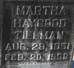 Martha <i>Haygood</i> Tillman