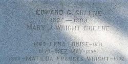Mary J <i>Wright</i> Greene