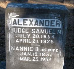 Nancy Belle NANNIE <i>Crump</i> Alexander