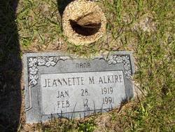 Jeannette M Alkire