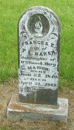 Frances E Eliza <i>Marion</i> Baker
