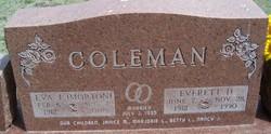 Everett D Coleman