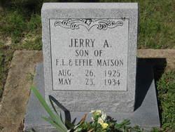 Jerry A Matson