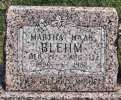 Martha <i>Haak</i> Blehm