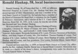 Ronald F Haukap