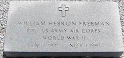 Rev William Hebron Freeman