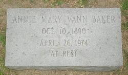Annie Mary <i>Vann</i> Baker