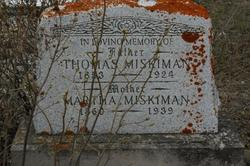 Martha <i>Thomas</i> Miskiman