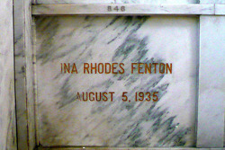 Ina <i>Rhodes</i> Fenton