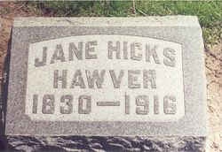 Jane <i>Hicks</i> Hawver