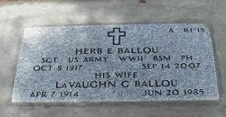Sgt Herb E Ballou