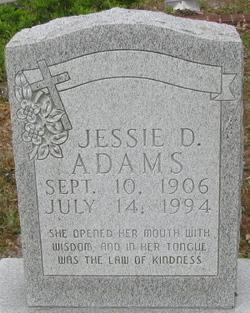 Jessie D Adams