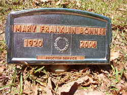 Mary <i>Franklin</i> Bonner