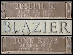 Joseph Nelson Joe Blazier, Sr