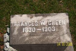 Frances W. Fannie <i>Boster</i> Green