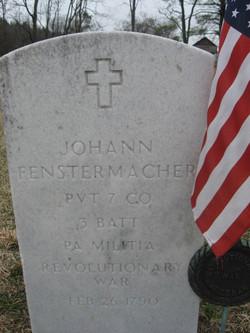 Pvt Johann Jacob Fenstermacher