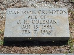 Jane Irene <i>Crumpton</i> Coleman