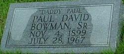 Paul David Bowman, Sr
