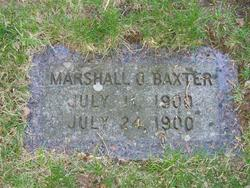 Marshall O Baxter